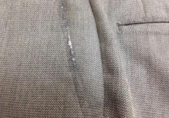 ズボンの前ポケットの破れ修理