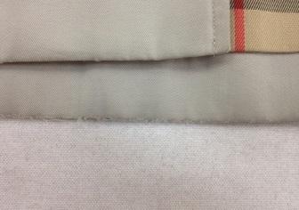 バーバリーコートの裾の擦り切れ修理
