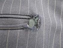 03 ズボンポケット口(後ろ)の破れ・擦り切れ直し